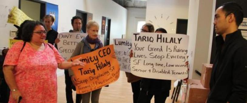 Anti-eviction Rally Held in Landlord's Office, Draws Police Intervention