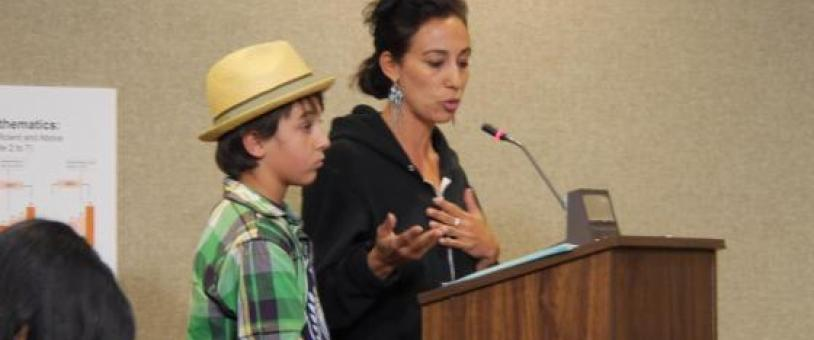 Mother testifies with son at hearing