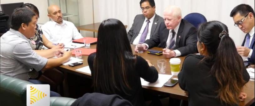 Advocates meet with Philippine Ambassador to the US