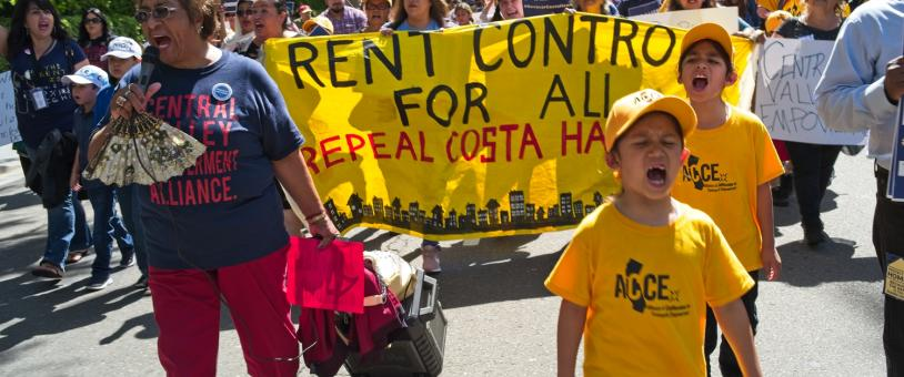 Youth lead rally to repeal limitations on rent control in California