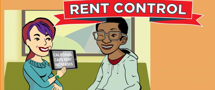 Riley and Curtis hold article showing Rent Control passed in California