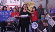 Tenant Cindy Salazar speaks at Press Conference on Costa-Hawkins Report